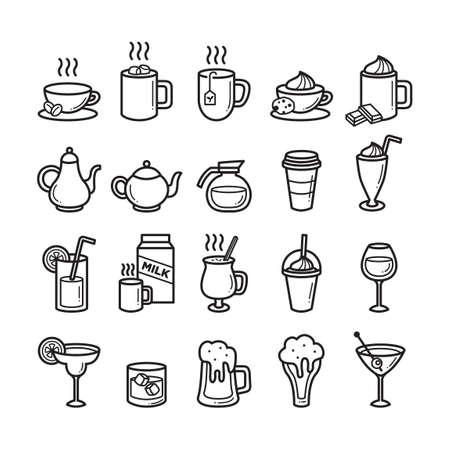 Set of refreshment icons Illustration