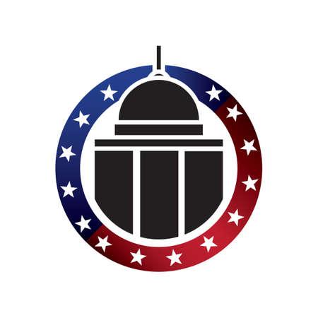 capitol: USA capitol building Illustration