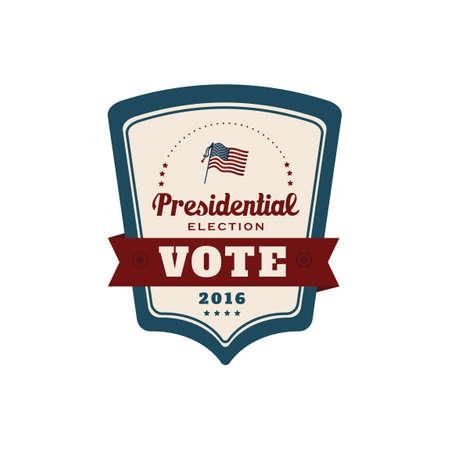 presidential: Presidential election label Illustration