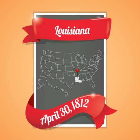 louisiana state: Louisiana state map poster