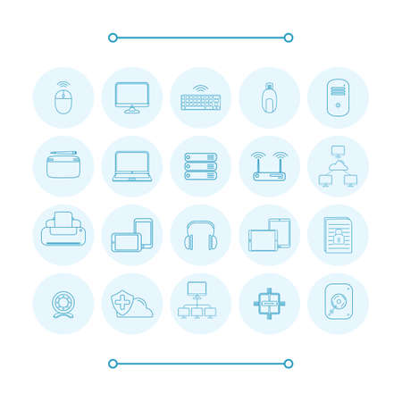 cd case: Collection of computer icons Illustration