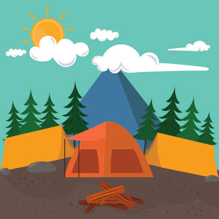 camping site: Camping site Illustration