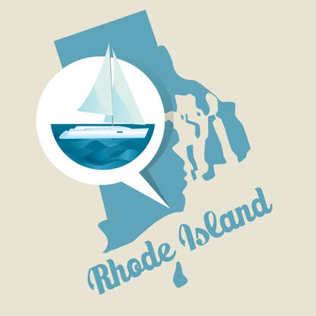 ocean state: Rhode island with the ocean state icon
