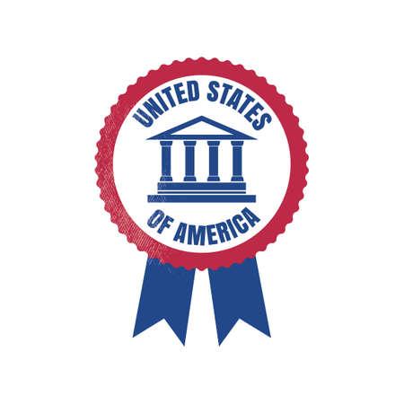 USA rosette Illustration