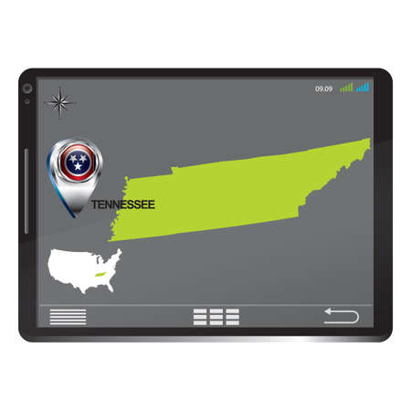 tennesse: Tablet PC con mapa Tennessee