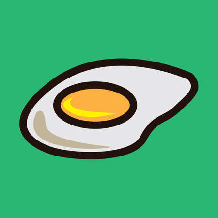 fried: Fried egg Illustration