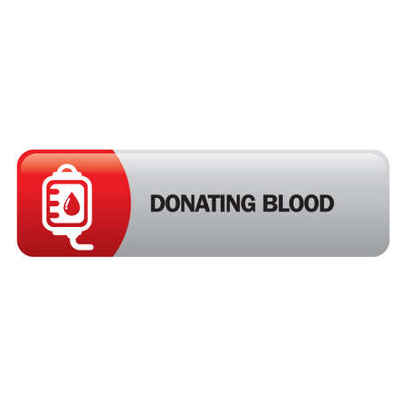 donating: Donating blood Illustration