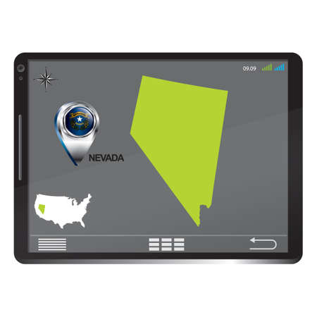 nevada: Tablet pc with nevada map