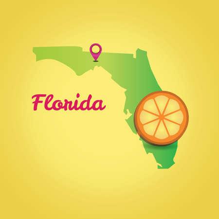 florida state: Map of florida state