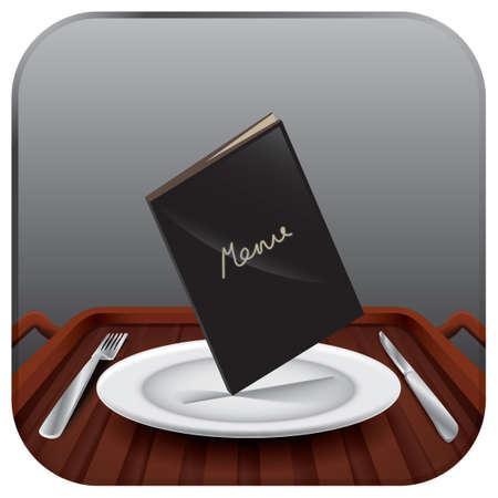 Menu card on a plate