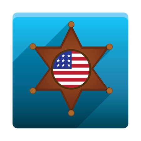 sheriff badge: Sheriff badge Illustration