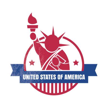 patriotic america: USA label