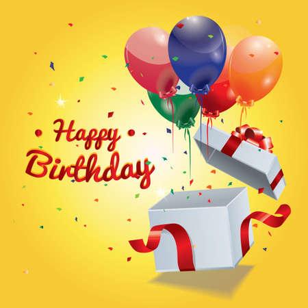 poppers: Happy birthday Illustration