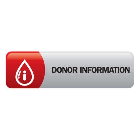 donor: Donor information Vectores