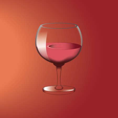 bebidas alcohÓlicas: Copa de vino Vectores