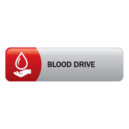 donation drive: Blood drive Illustration