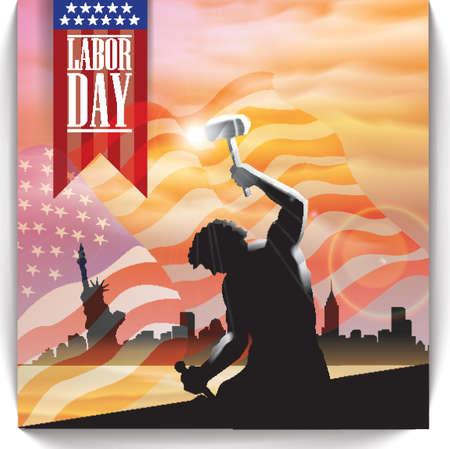 労働者の日デザイン