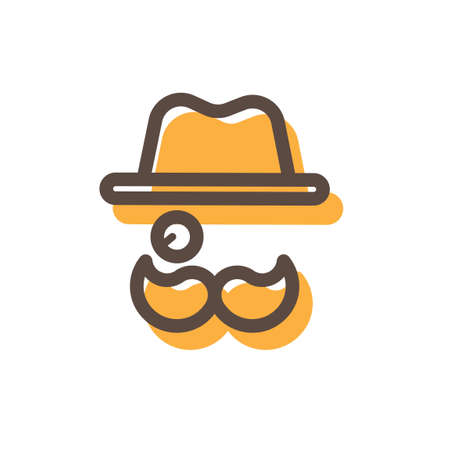 monocle: Hat monocle and mustache