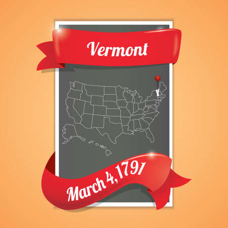 seventeen: Vermont state map poster