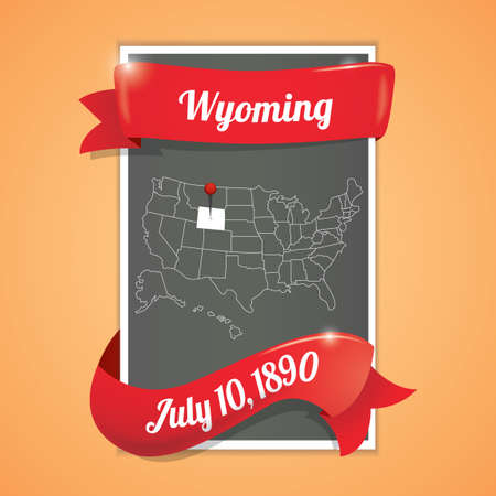tenth: Wyoming state map poster