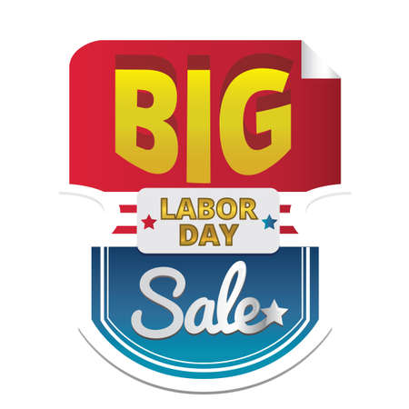 Labor day sale sticker