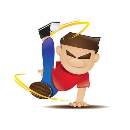 breakdance: Man with breakdance pose Illustration