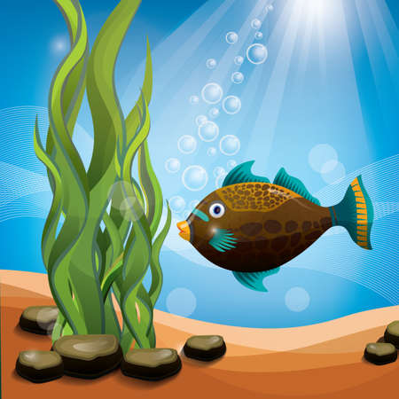 Fish underwater Illustration