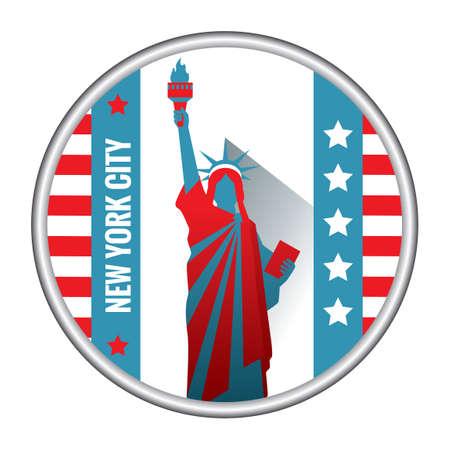 liberty: The statue of liberty Illustration