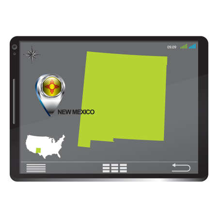 new mexico: Tablet pc with new mexico map