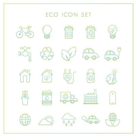 transportation icons: Set of ecology icons Illustration