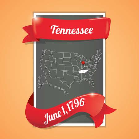 tennessee: Tennessee mapa cartel estado