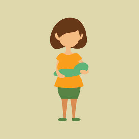 mother holding baby: Mother holding baby