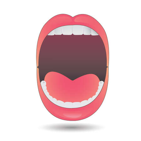 opened mouth: