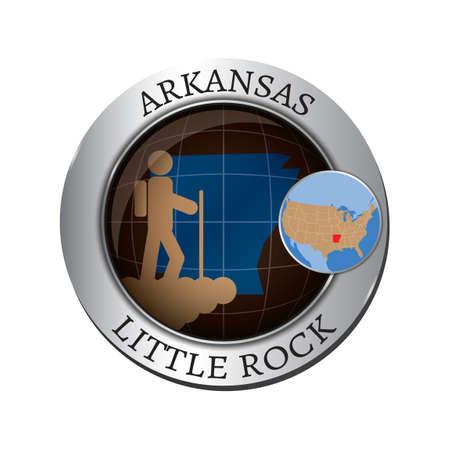 bergsteiger: Arkansas Staat mit Bergsteiger badge