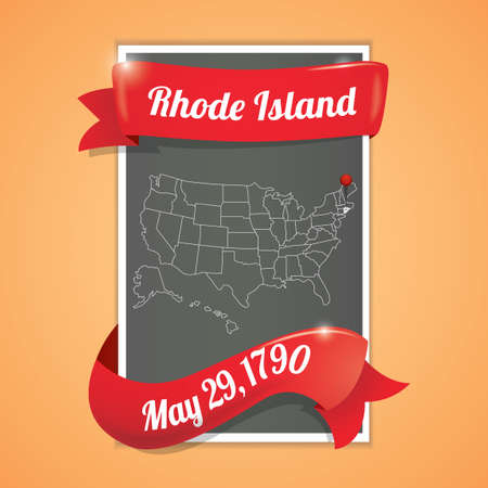 ninety: Rhode island state map poster