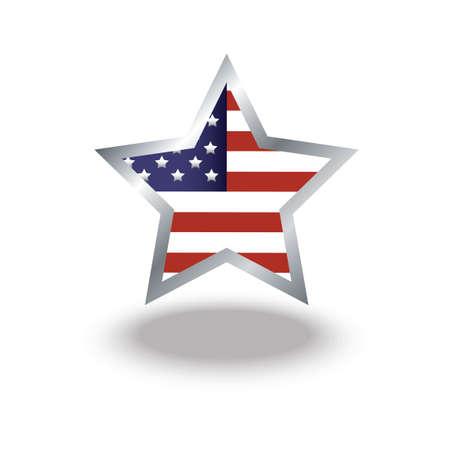 flag: Star with usa flag