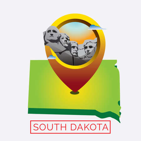 dakota: Map of south dakota state