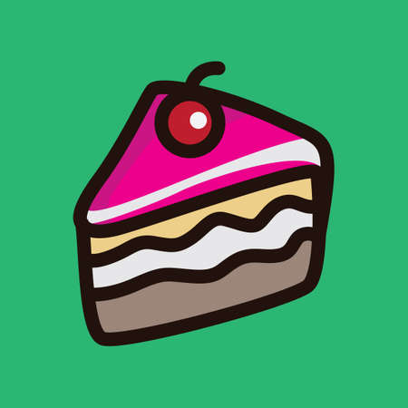 slice of cake: Slice of cake