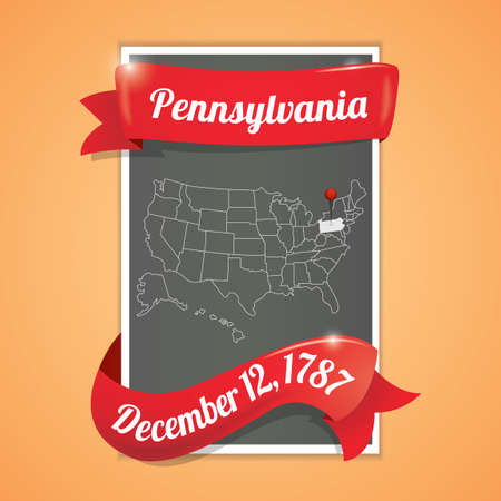 pennsylvania: Pennsylvania state map poster