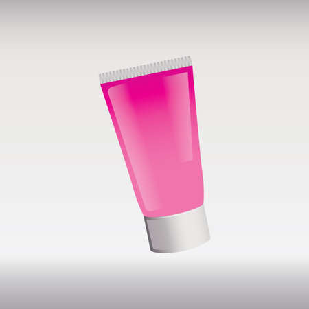 face wash: Face wash tube Illustration