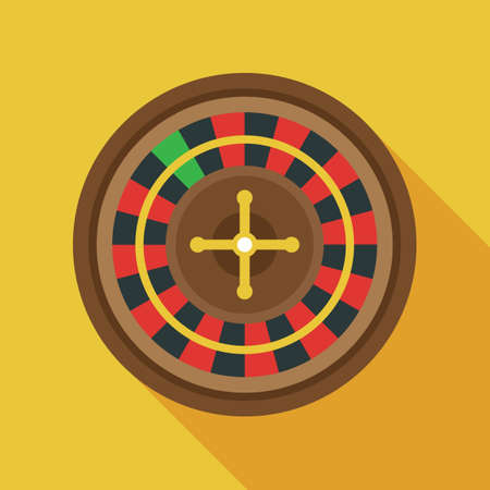 gamble wheel: Casino roulette wheel Illustration