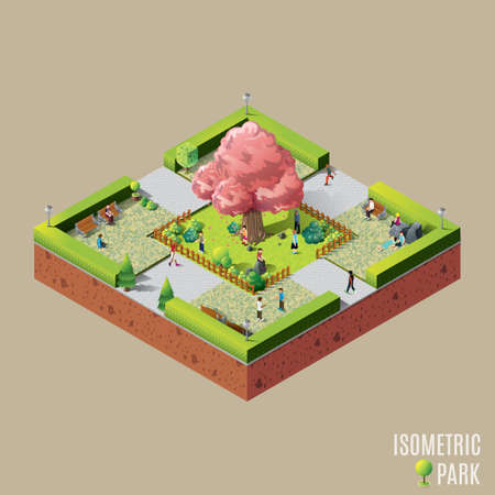 streetlight: Isometric park