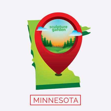 minnesota: Map of minnesota state
