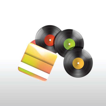 gramophone: Gramophone records Illustration