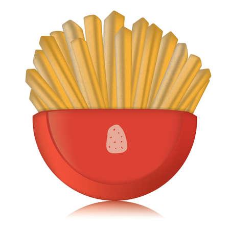 rinfreschi: Patatine fritte Vettoriali
