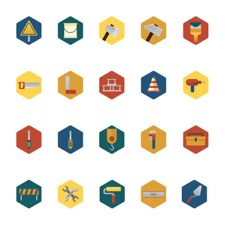 spirit level: Collection of construction icons