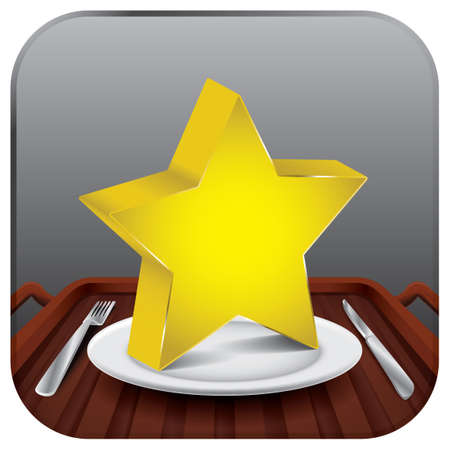 plate: Star on a plate