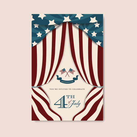 fourth of july: Fourth of july independence day invitation