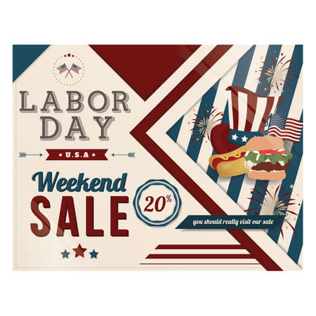 Labor day sale banner