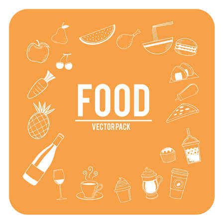 food icons: Set of food icons